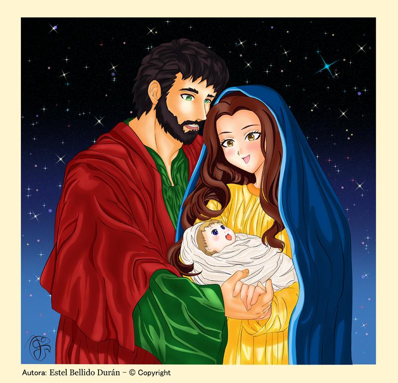 Felicitaciones De Navidad Anime.Ilustraciones Felicitaciones De Navidad Y Pascua De